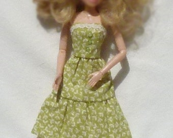 "Floral 11.5"" Doll Dress Handmade"