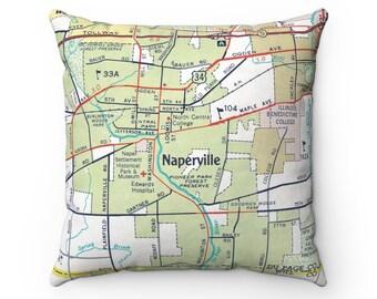 Subway Map Naperville.Naperville Etsy