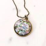 Uganda Map Necklace