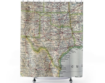Texas Shower Curtain Housewarming Gift Wedding