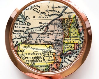 Compact State Map.State Map Compact Etsy
