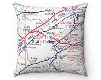 Penn State Map Etsy