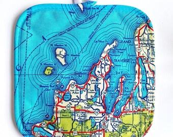 Custom Map Hot Pad - Custom Map Pot Holder - Map Pot Holder - Map Gift - Gift for Map Lover - Kitchen Decor - Kitchen Linens
