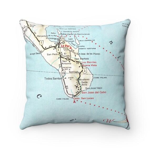 Cabo San Lucas Map Pillow - Cabo San Lucas Pillow - Cabo San Lucas Map -  Housewarming Gift - Wedding Gift