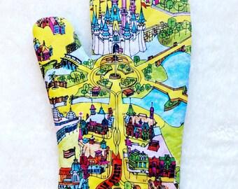 Walt Disney World Map Oven Mitt - Walt Disney World Oven Mitt - Walt Disney World Gift - Disney Kitchen - DVC Gift