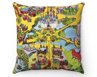 Walt Disney World Map Pillow - Disney Wedding Gift - Magic Kingdom Pillow - Housewarming Gift - Disney Lover