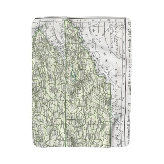 Eastern Tennessee Map Blanket Eastern Tennessee Blanket Etsy