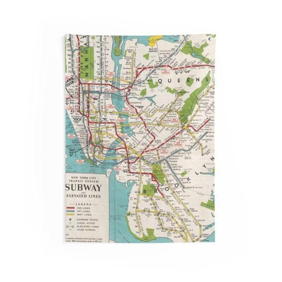 Subway Map Tapestry.Nyc Subway Wall Tapestry Nyc Subway Tapestry Nyc Subway Map Tapestry New York City Subway Map Room Decor Dorm Decor