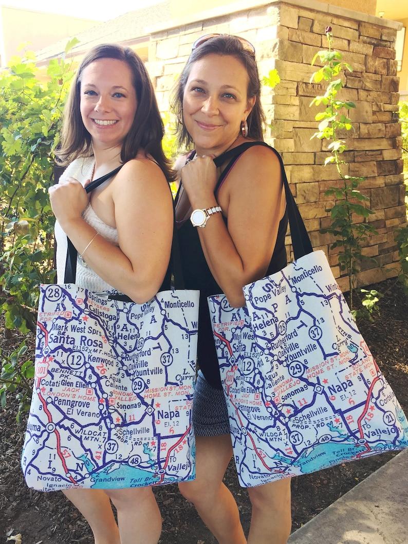 Peru Map Tote Travel Tote Graduation Gift Peru Tote Bag Peru Beach Bag Peru Study Abroad Peru Map Bag Exchange Student