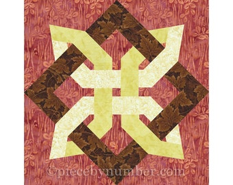 Eternity Knot Quilt Block Paper Piecing Quilt Patterns Pdf Etsy