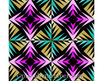 Gaggle of Geese quilt block, paper pieced quilt patterns, instant download PDF patterns, geometric quilt patterns, geometric patterns