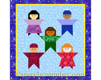 Little Peeps kids quilt block, paper piecing quilt patterns, kids quilt pattern, instant download PDF pattern, baby quilt patterns