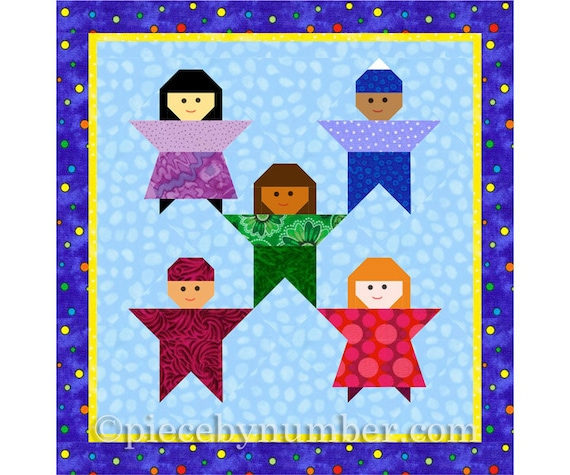 Little Peeps Kids Quilt Block Paper Piecing Quilt Patterns Etsy