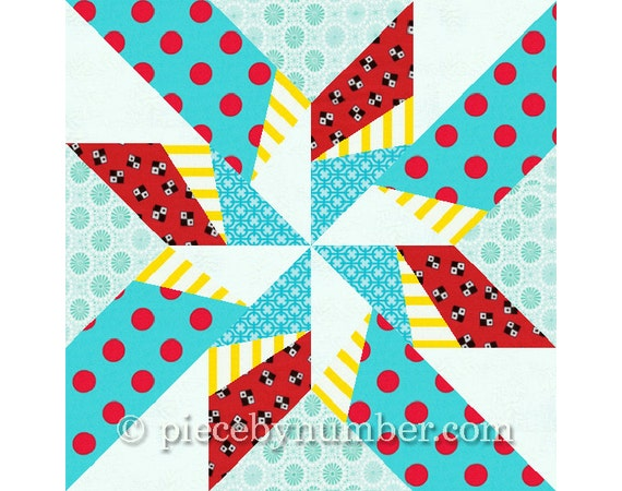 Dancing Arrows Star Quilt Block Pattern Paper Pieced Quilt