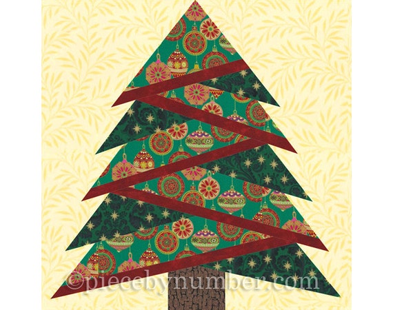 image 0 - Pine Tree Quilt Block Pattern Paper Piecing Quilt Pattern Etsy