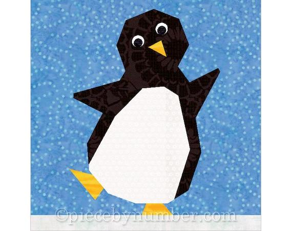Penguin Quilt Block Paper Pieced Quilt Pattern Instant Etsy