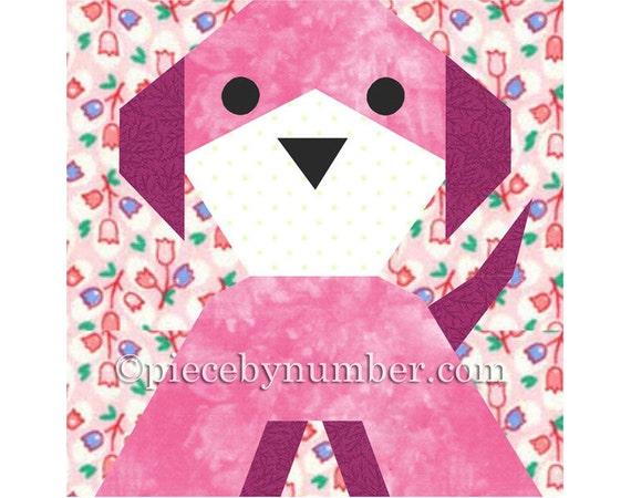Puppy Dog Quilt Block Paper Piecing Quilt Patterns PDF Quilt Etsy New Dog Quilt Patterns