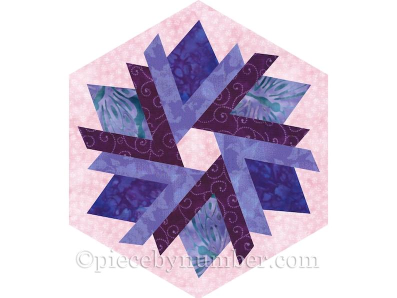 floral Flower Bud Wreath paper pieced quilt block crocus rosebuds garden block nature 4 variations of square /& hexagon format