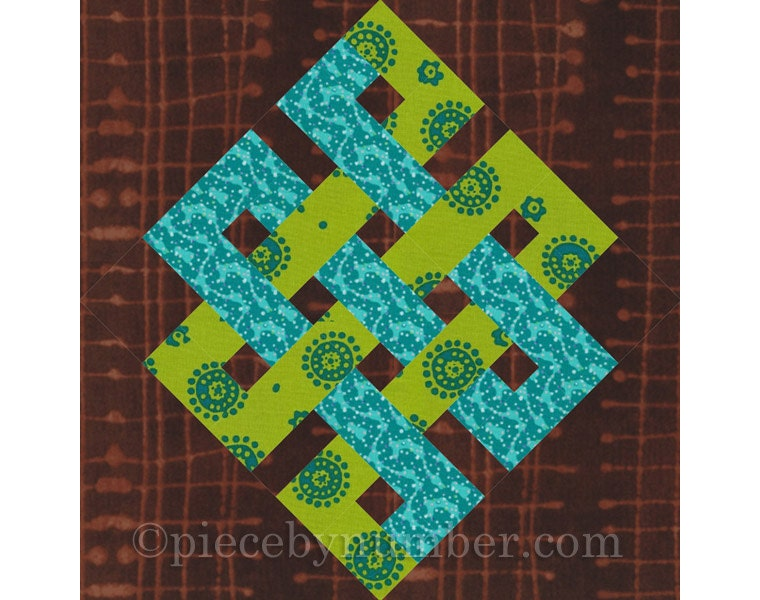 Eternity Knot Rotary Quick Cut Quilt Block Pattern Pdf Etsy