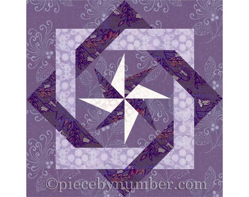 Interlocked Squares quilt block paper pieced quilt patterns image 1