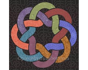 Crown of Venice applique quilt pattern, PDF download, celtic knot applique pattern, sewing pattern