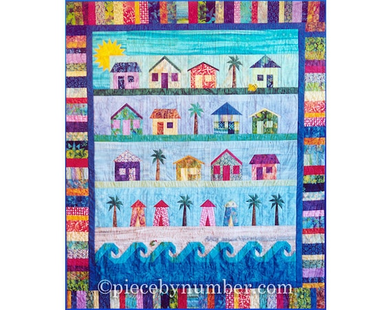 Beach Cottages Quilt Paper Piecing Quilt Patterns Beach