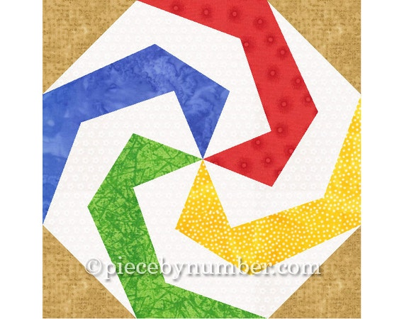 Lollipop Quilt Block Pattern Paper Pieced Quilt Patterns Etsy