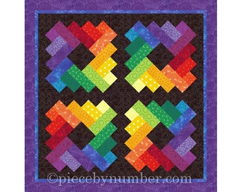 Siena Square quilt block pattern, paper pieced quilt patterns, instant download, PDF pattern, signature quilt block, geometric quilt pattern