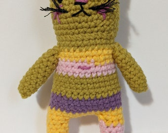 crochet cat kitty animal finished product cute cuddly gift child adult young at heart