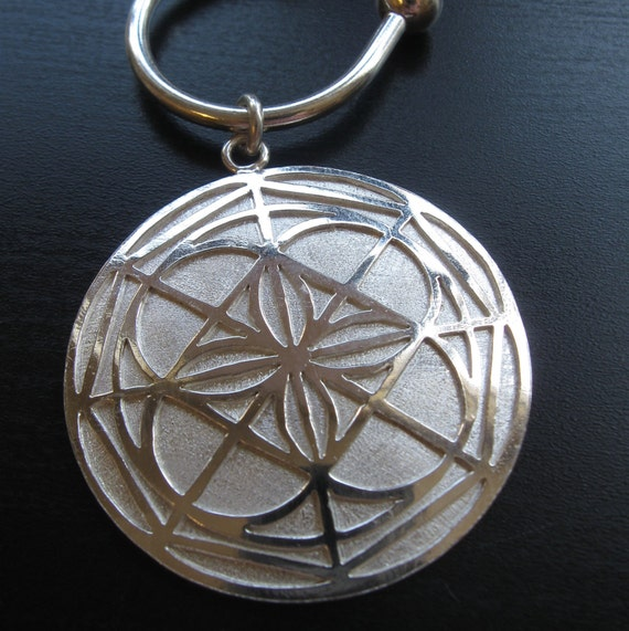 Sterling Silver Kenpo Universal Pattern Keychain Etsy