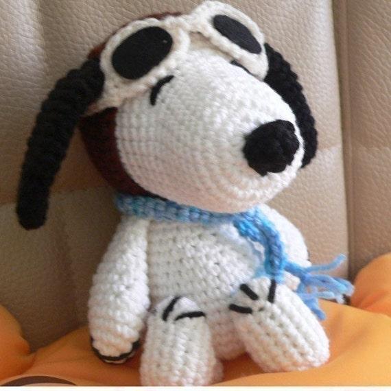 Amigurumi Pilot Snoopy Welpen Hund Häkelmuster Weihnachten | Etsy