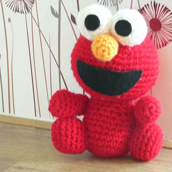 Amigurumi Sesame Street Elmo Red Monster häkeln Muster | Etsy