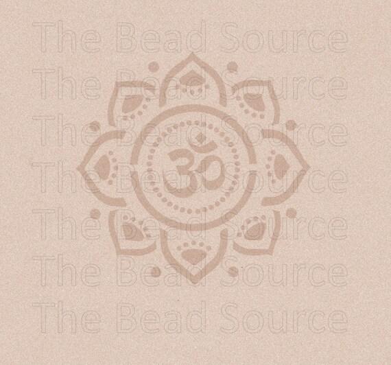 OM Om-Mandala-Schablone Yoga-Blume-Schablone | Etsy
