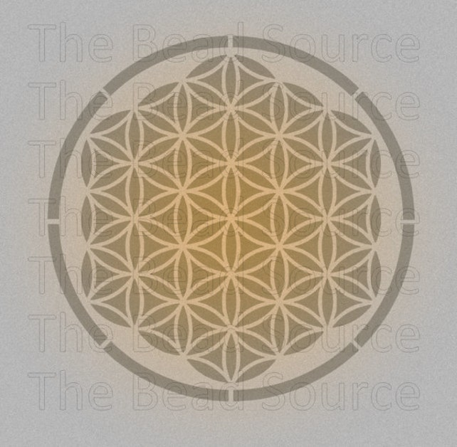 Flower Of Life Stencil Sacred Geometry Stencil Ancient Etsy