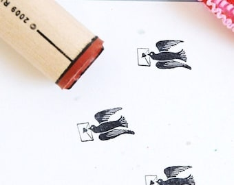 Valentine Messenger Rubber Stamp
