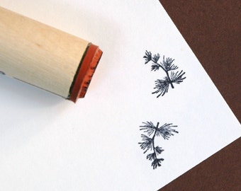 Conifer Branch Rubber Stamp