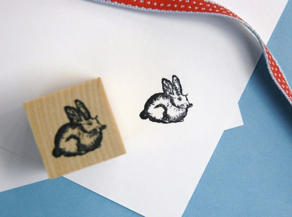 16mm Easter Bunny Stamp 20mm Mini Stamps Planner Stamp 10mm Cute Rabbit Stamp Rabbit Rubber Stamp S529
