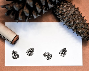 Pinecone Rubber Stamp