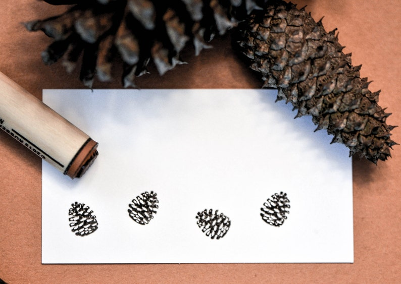 Pinecone Rubber Stamp image 0