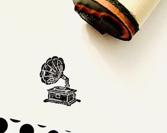 Phonograph Victrola Rubber Stamp