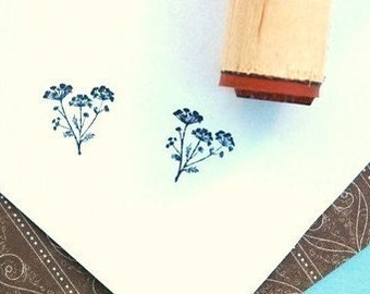 Blooming Dill Rubber Stamp
