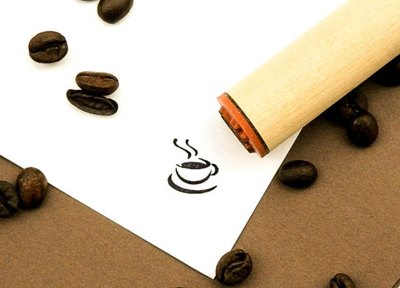 Hot Coffee Rubber Stamp image 1