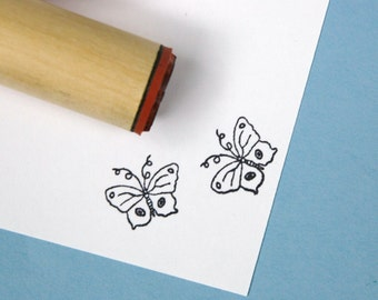 Wire Butterfly  Rubber Stamp