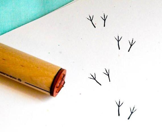 Bird Tracks  Rubber Stamp