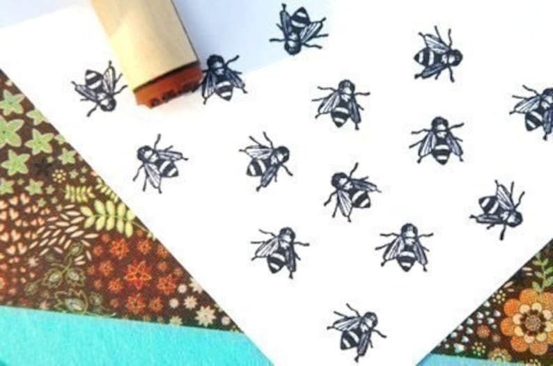 Bee Rubber Stamp image 0