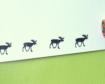 Moose Rubber Stamp