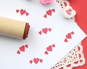 Heart Garland  Rubber Stamp