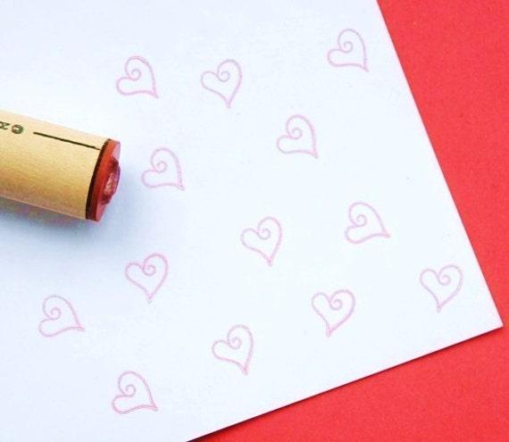 Loop Heart Rubber Stamp