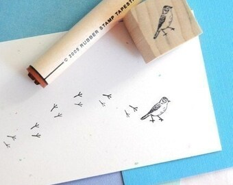 Bird and Bird Tracks Rubber Stamp Set