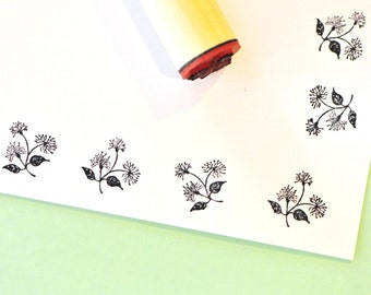 Flower Cluster Rubber Stamp